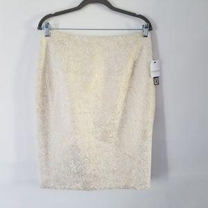 New Liz Claiborne Size 10 Gold Tan Pencil Skirt